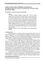 effects of plasma nitriding and surface densification on contact ...