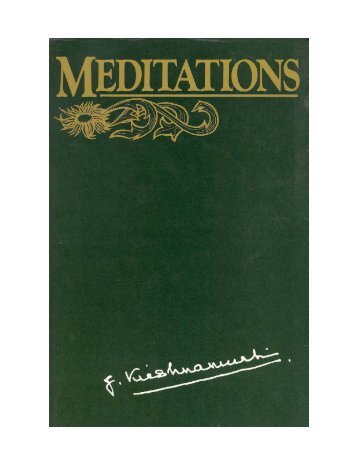 Krishnamurti Meditations 1969 - HolyBooks.com