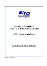 Regolamento del servizio idrico integrato (fognatura) - Comune di ...