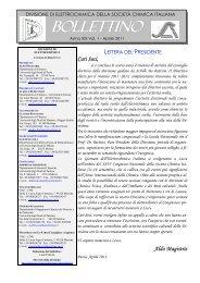 2011 - Anno XIX, vol. 1 - Società Chimica Italiana
