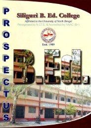 Prospectus of Siliguri B.Ed College - 2010-04