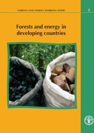 Forests and energy in developing countries - FAO.org