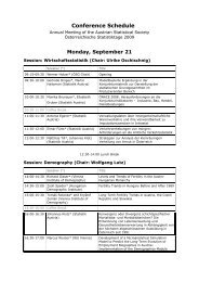 Conference Schedule - Institute for Statistics and Mathematics