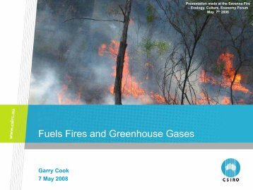 Fuels Fires and Greenhouse Gases