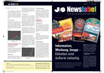 Information, Werbung, Image – Etiketten sind äußerst vielseitig