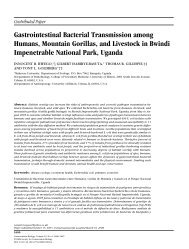 Gastrointestinal Bacterial Transmission among Humans, Mountain ...