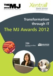 Xentrall Shared Services - The MJ Awards