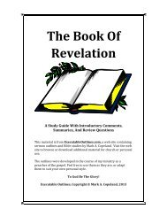 The Book Of Revelation - Executable Outlines
