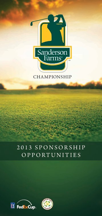 2013 SPONSORSHIP OPPORTUNITIES - PGA Tour