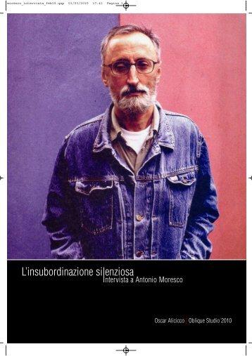 Antonio Moresco - Oblique Studio