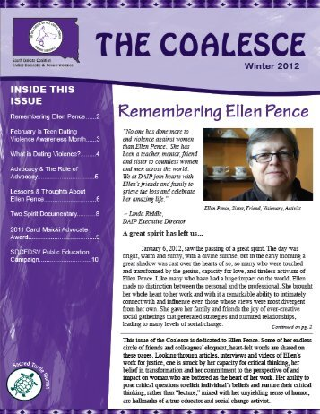 View the Winter 2012 Coalesce Newsletter