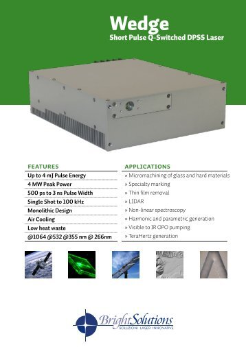 Wedge brochure - BrightSolutions: Laser