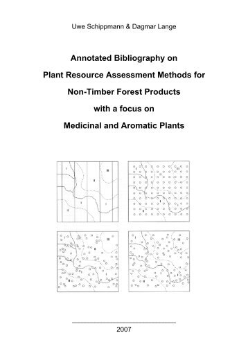 Annotated Bibliography on Plant Resource Assessment ... - FloraWeb