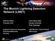 The Munich Lightning Detection Network (LINET) - AMMA