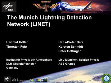 The Munich Lightning Detection Network (LINET) - AMMA
