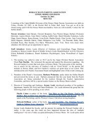 Minutes from the PA Meeting on 10/24/03 - Horace Mann School