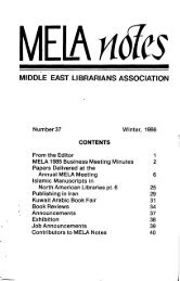 View or Download MELA Notes 37 - Middle East Librarians ...