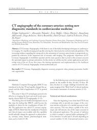 CT angiography of the coronary arteries: setting ... - ResearchGate