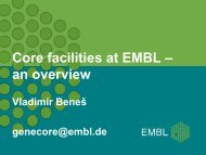 Core facilities at EMBL – an overview - Molmedrex Project