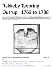 Rakkeby Taebring Outrup 1769 to 1788 - DIS-Danmark