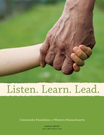 Annual Report - Community Foundation of Western Massachusetts