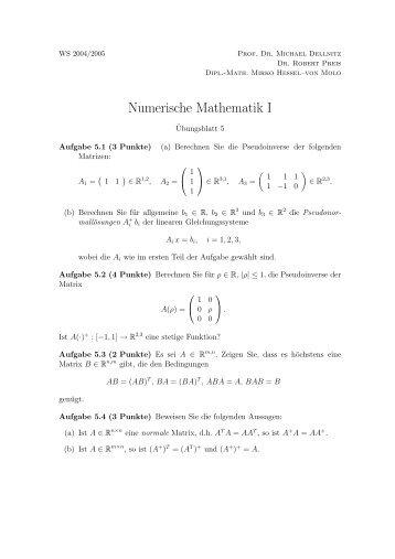 Numerische Mathematik I