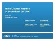 Results presentation - Shire