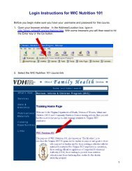 Login Instructions for the Michigan WIC Web Course MIWIC1A