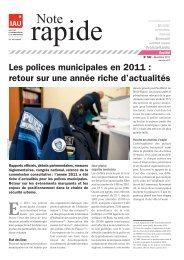 Les polices municipales en 2011 : retour sur une année ... - IAU îdF