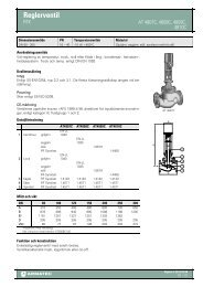 Produktbladför Reglerventil - RTK - Armatec