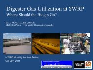 Digesters - Metropolitan Water Reclamation District of Greater Chicago