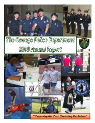 2008 Annual Report - Oswego Police Department