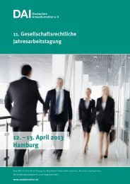 09. – 10. November 2012 12. – 13. April 2013 Hamburg - Deutsches ...