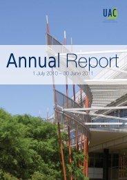 UAC Annual Report - 2010/2011 - Universities Admissions Centre