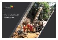 Zanaga Iron Ore One2One Investor Presentation - Proactive Investors
