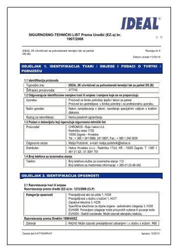 SIGURNOSNO-TEHNIČKI LIST Prema Uredbi (EZ-a) br ... - Helios