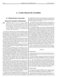 I. COMUNIDAD DE MADRID - EMT
