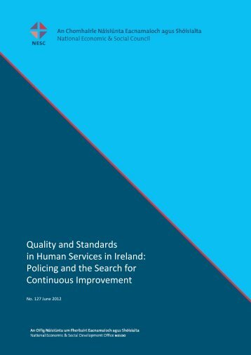 Quality and Standards in Human Services in Ireland - The National ...