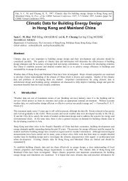 Climatic Data for Building Energy Design in Hong Kong and ...