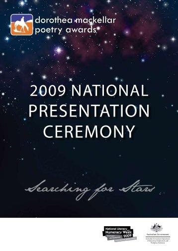PRESENTATION CEREMONY - Dorothea Mackellar Poetry Awards