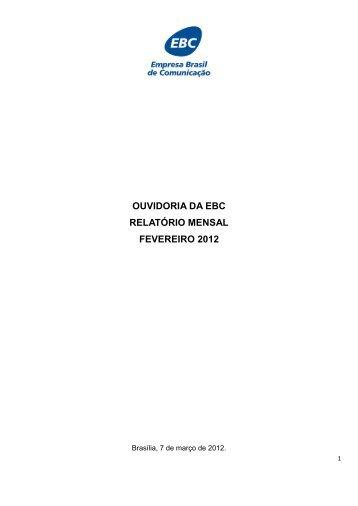 Fevereiro/2012 - EBC - Empresa Brasil de Comunicação