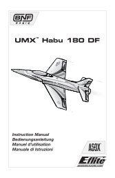 UMX Habu 180 DF Manual - Horizon Hobby