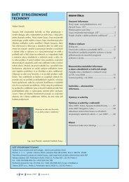Svět strojírenské techniky číslo 1/2007 (PDF, 4.16 MB) - Svaz ...