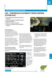 LZA – CONTINuOuS AuTOMATIC TRAIN CONTROL SYSTEM (ATC)