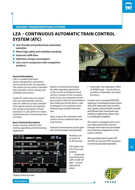 LZA – CONTINuOuS AuTOMATIC TRAIN CONTROL SYSTEM (ATC)