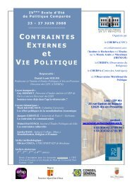 Programme diffusion - Sciences Po Aix