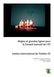 Règles et grandes lignes pour le Conseil exécutif de l'ITI Institut ...