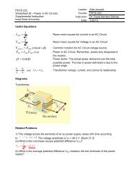 PHYS 222 Worksheet 25 Power in AC Circuits ANSWERS