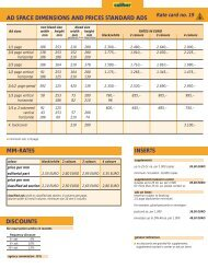 MM-RATES INSERTS AD SPACE DIMENSIONS AND PRICES - Visier