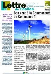 Lettre de l'éolien 1 - Plan Climat du Pays de Romans - Communauté ...